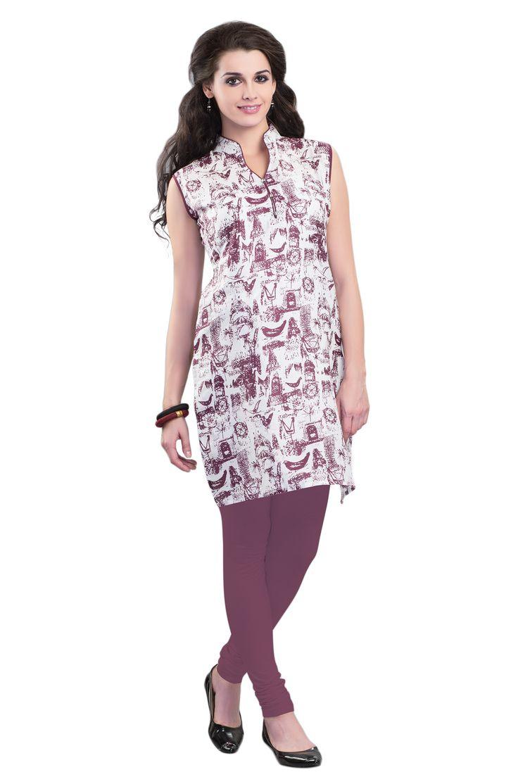 #Wine&White #Kurti #Casualwear #Officewear #Occasionalwear buy at salwarstudio.com