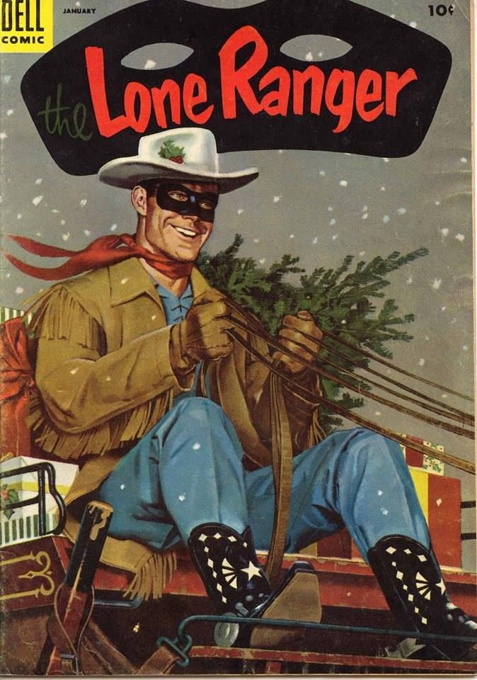 Lone Ranger Christmas Comic Book From Dell Circa Late