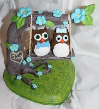 Owl cake toppers, adorable