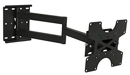 Mount-it! MI-411 TV Wall Mount Bracket with Full Motion Swing Out Tilt and Swivel Articulating Arm up to 200x200 VESA (17-37 inch TV)