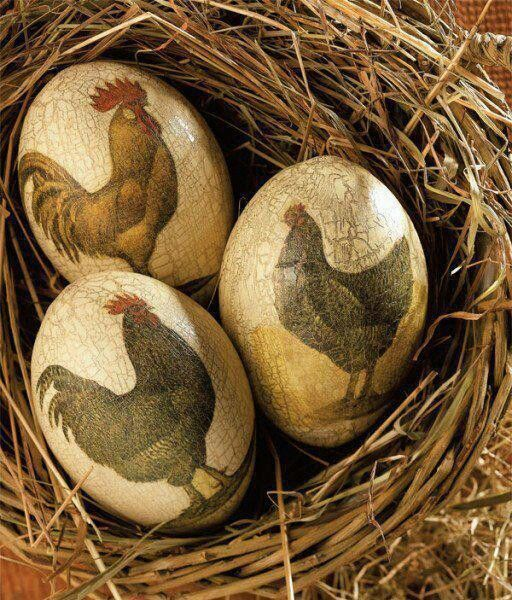 Decorative Rooster Eggs