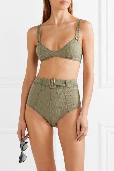 c22b255ff4bdd Lisa Marie Fernandez | Magdalena belted seersucker bikini | NET-A-PORTER.COM