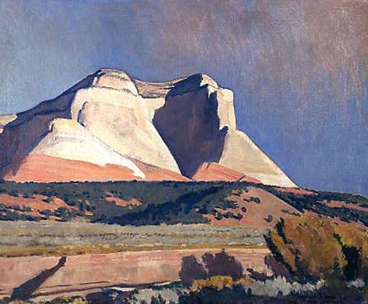 Dixon 1875 1946 Maynard Sunlit Cliffs 1942 16x20 Oil On Canvas Board Maynard Dixon