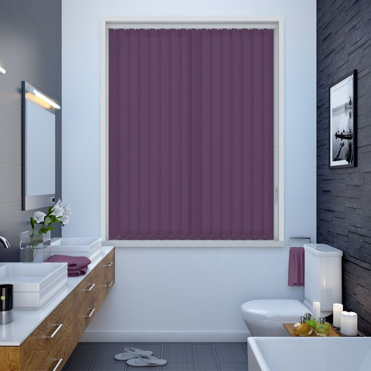 Splash Berry Vertical Blinds - Make My Blinds