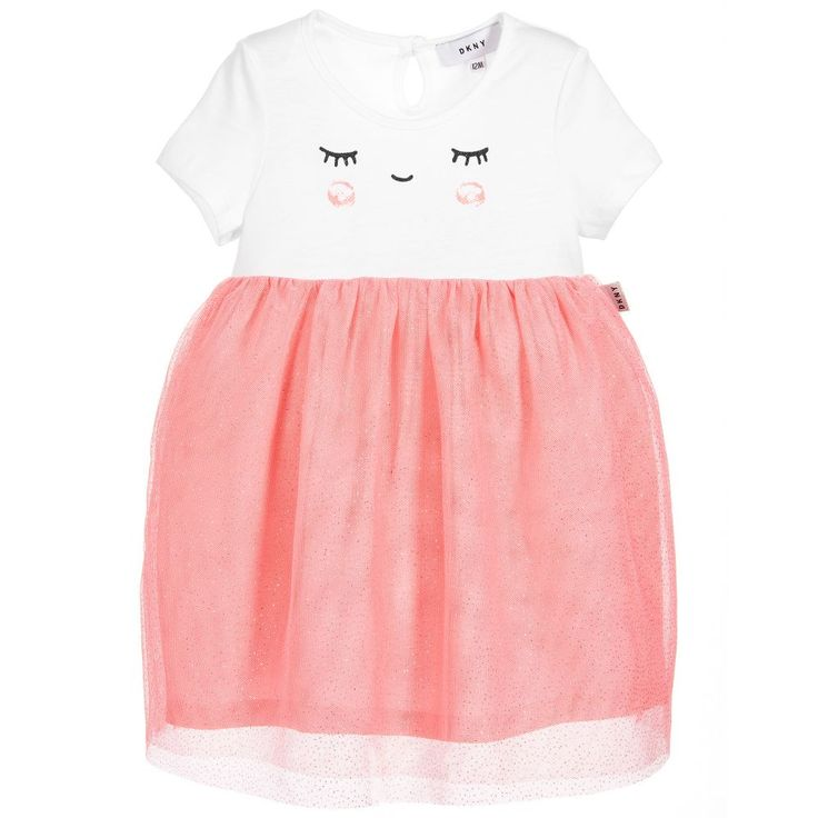 DKNY - Baby Girls Pink Sparkly Dress |