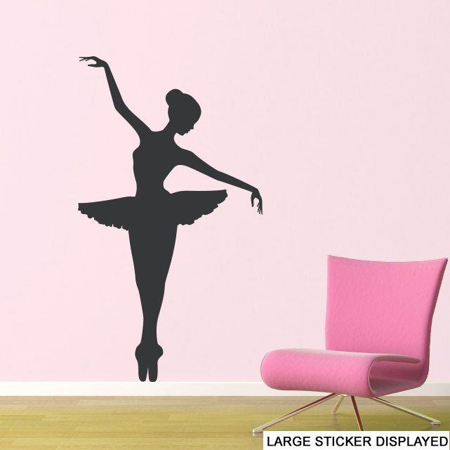 Ballerina Dance - Wall Vinyl Stickers Ballet Girls Dancer Mural Transfer Decals #StickersOnYourWall