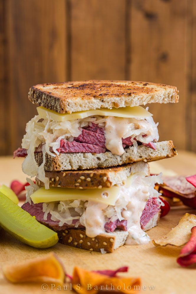 Check out Reuben Sandwich. It's so easy to make!   Russian dressing, The reubens and Tables