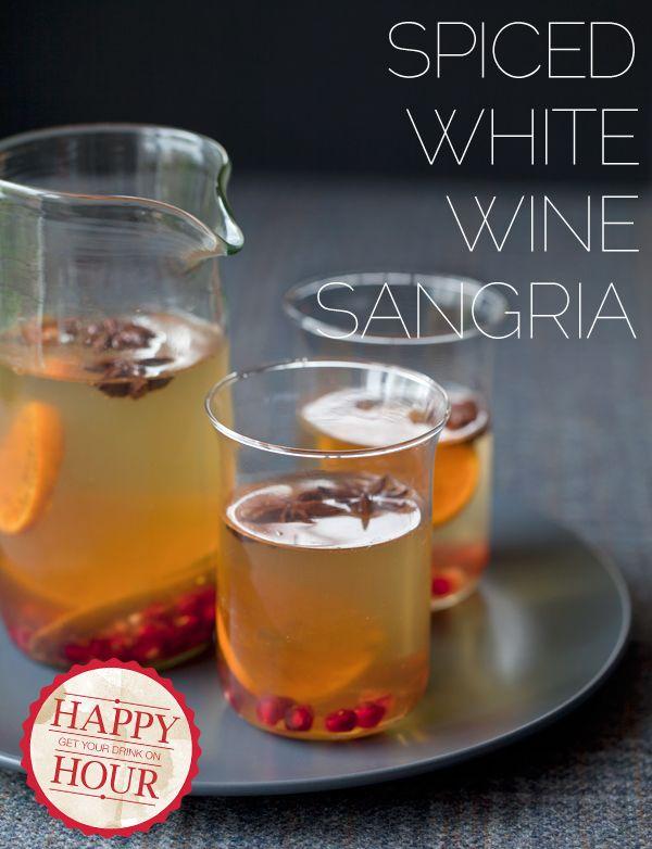 Spiced white wine sangria