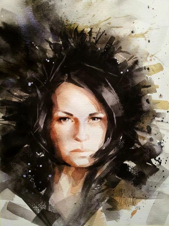 Watercolour/ 45x32 cm/ QoR watercolour
