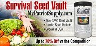 20% off anything at My Patriot Supply  June 23 & 24. MPS also has Heirloom Seeds, Emergency Prep supplies & Canning Equipment.