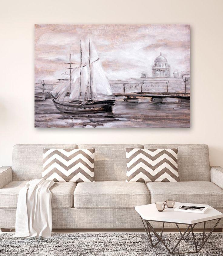 Obraz na ścianę do salonu: klasyczny pejzaż do klasycznego salonu. Szukasz dekoracji do mieszkania w odcieniach kawy i beżu? Wypróbuj jeden z klasycznych pejzaży do salonu!