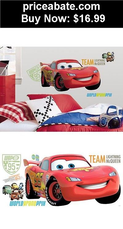 Kids-at-Home: New GIANT LIGHTNING MCQUEEN WALL DECALS Disney Cars 2 Movie Stickers Boys Decor - BUY IT NOW ONLY $16.99