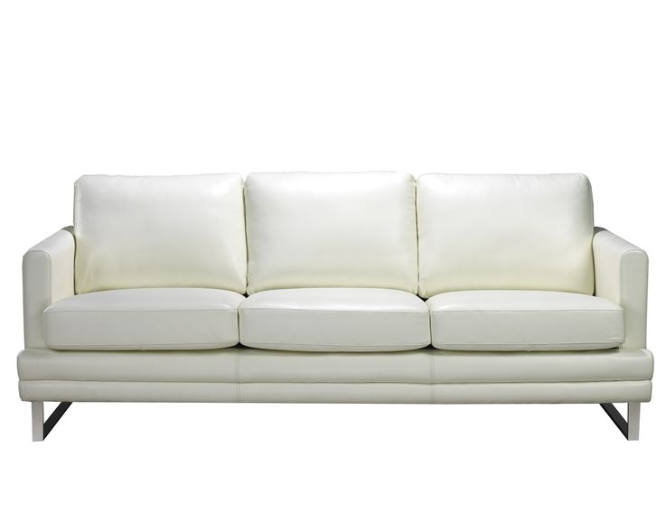 Leather Living Rooms, White Leather, Arrow