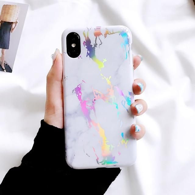 Lack Laser Marble Phone Case For Iphone 11 11pro Max Xs X Xr Xs Max 6 6s 7 8 Plus Back Cover In 2020 Phone Cases Marble Marble Iphone Case Pattern Iphone Case
