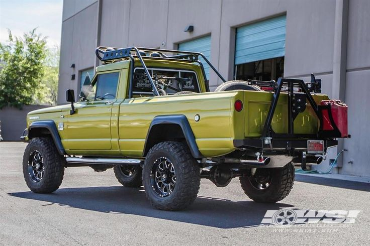 "1968 Jeep Gladiator with 18"" Hostile Wheels"