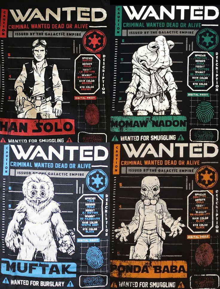 FUNKO Star Wars Cantina T-Shirt Brand New Wanted Posters Han Solo And Others #Funko