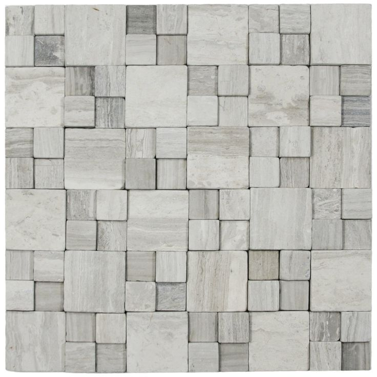 Light Grey Blocks Stone Tile