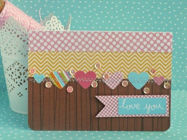 Create a colourful Valentines card with the Meadow Sweet collection like this by the talented Anna Draicchio. Click the image to find her youtube tutorial.