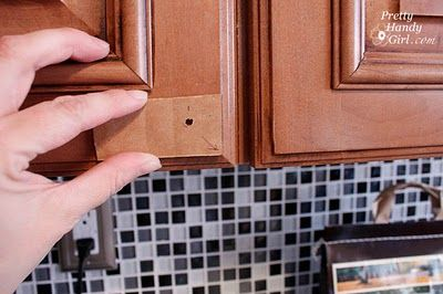 Tricks for perfectly installing cabinet knobs every time! #DIY