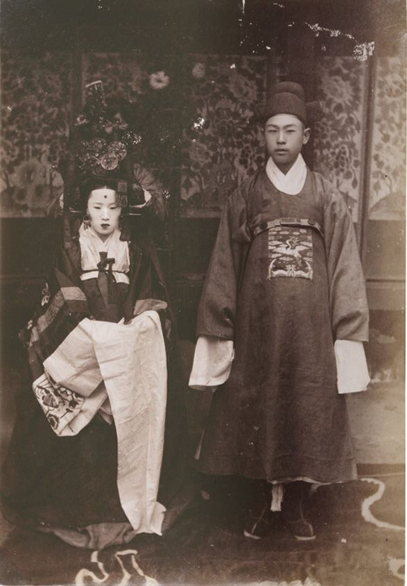 Korean Traditional Wedding Ceremony Hwang Cheol, Albumin Print, 13.3x9.5cm, 1880's
