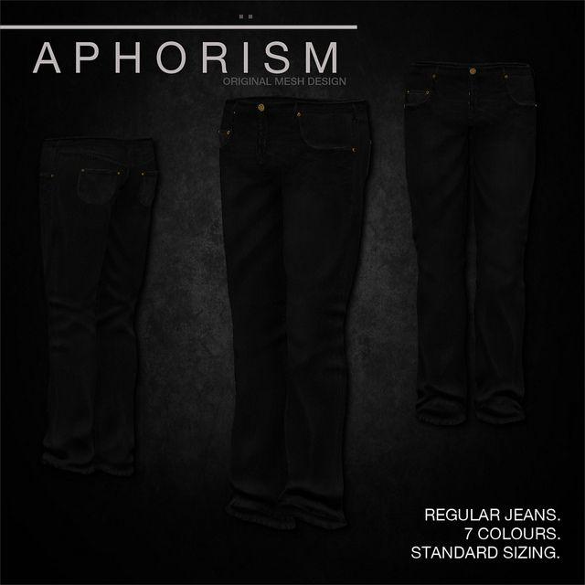 !APHORISM! Regular Jeans Indigo | Flickr - Photo Sharing!