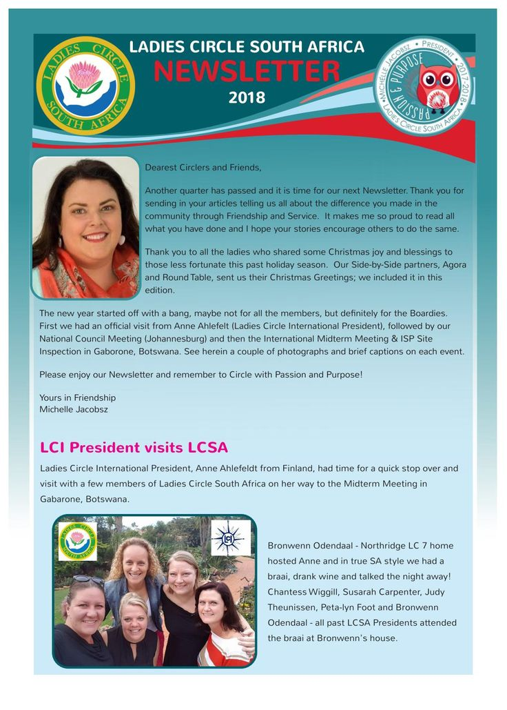 LCSA NEWSLETTER January 2018