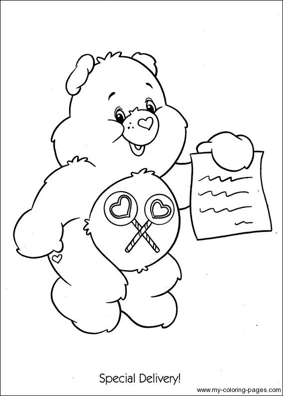 share bear coloring pages - photo#9