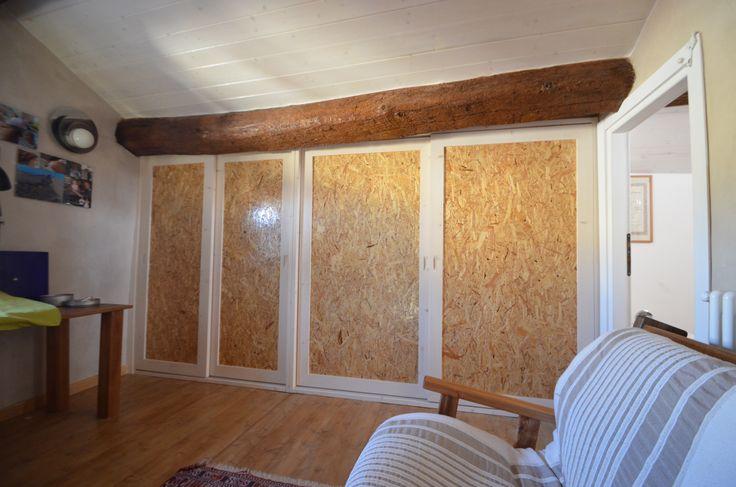 Telaio a muro con 4 ante scorrevoli e piani interni for Piani di cabina contemporanei
