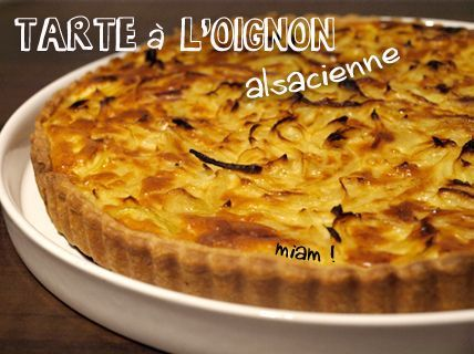 Tarte à l'oignon alsacienne - la recette traditionnelle