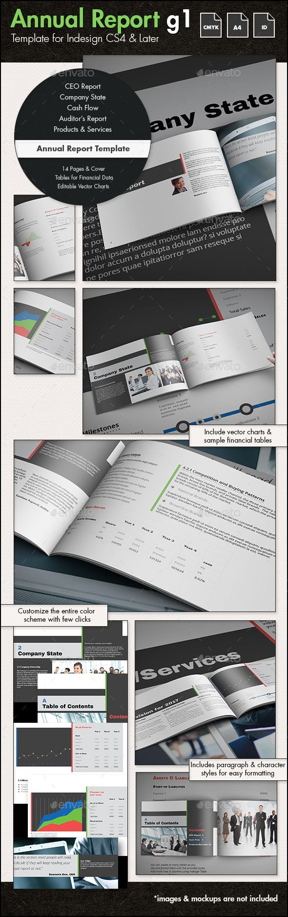 Annual Report Template  Annual Reports Print Templates And