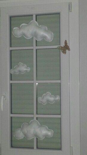 Décoration nuages pour chambre de bébé