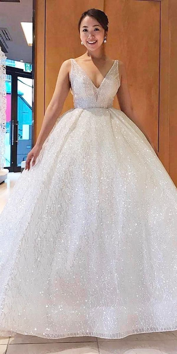 27 Disney Wedding Dresses For Fairy Tale Inspiration ❤ See more: http://www.weddingforward.com/disney-wedding-dresses/ #wedding #dresses #disney