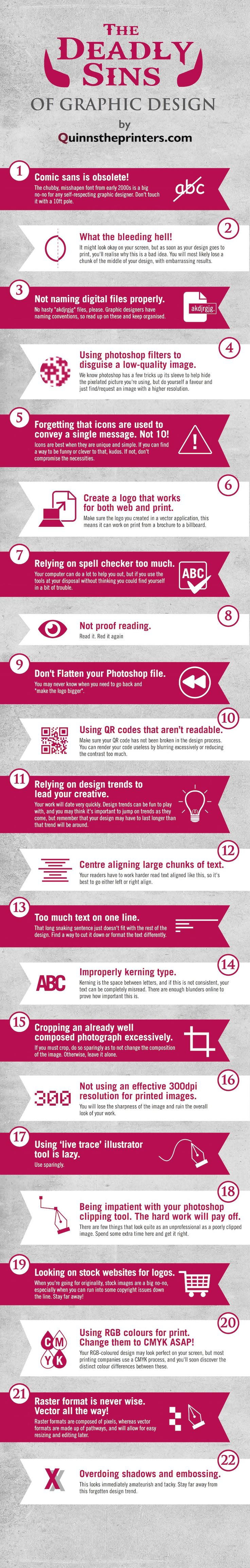 Graphic Design Sins: 22 Mistakes That Novice Designers Make