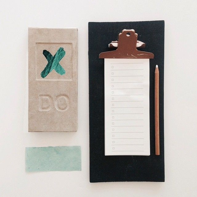 TO DO list, embossed on leather, metallic foil, checklist. Shopping list  with lines and checkboxes. Handmade paper finishing #buynow for $32