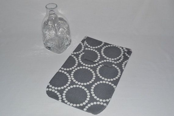 Diaper Clutch Modern Gray Baby Diaper Holder made by Sweet Stitches Design on Etsy