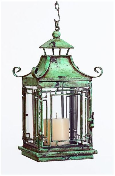 Oxidized copper or verdigris finish -- refreshing