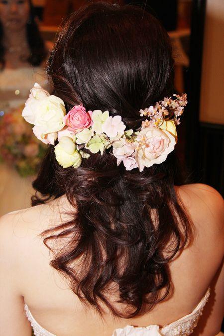 新郎新婦様からのメール 愛知まで シャワーブーケ : 一会 ウエディングの花