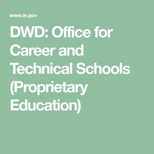DWD: Office for Career and Technical Schools (Proprietary Education)