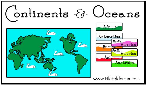 5 continents and 7 oceans and continents games