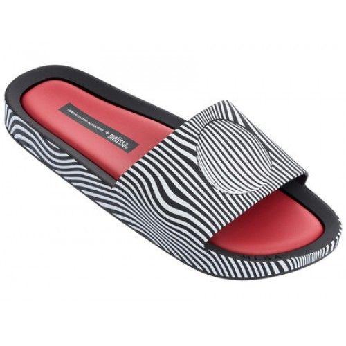 Melissa Beach Slide + Alexandre Herchcovitch 32292 preto / branco / vermelho