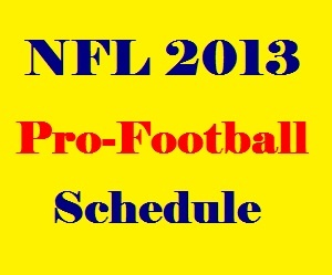 NFL 2013 Preseason Schedule
