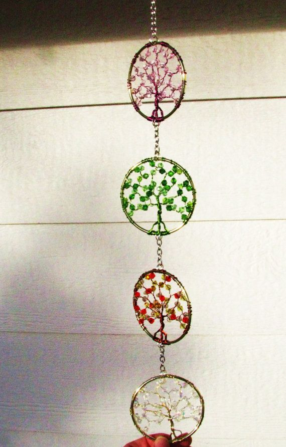 Four Seasons Tree of Life SunCatcher by CelestialWoodlands on Etsy, $39.00