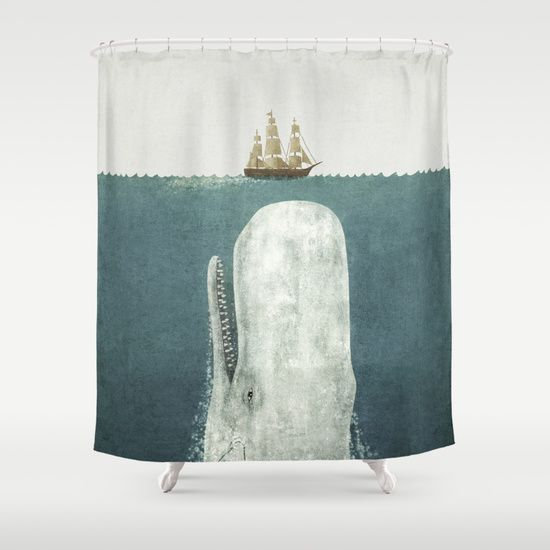 The Whale Vintage Option Shower Curtain Ux Ui Designer Terry O 39 Quinn And The White