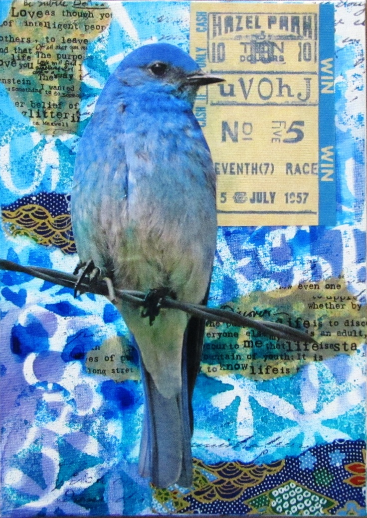 This mixed media canvas can also be made as a journal page. Watch the video on YouTube: http://youtu.be/INw8R-5h7rg