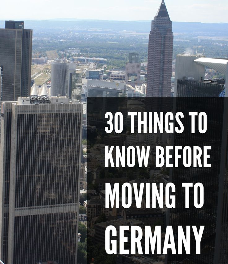 Oh Germany, the great land of famous sausages and dirndls. A post to help future expats on what to know before moving to Germany.