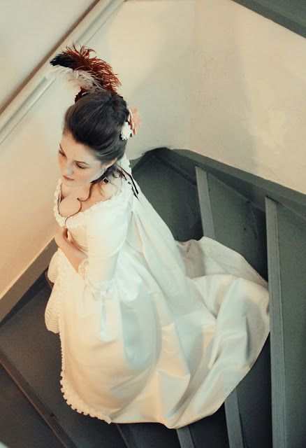 Rococo Atelier: Robe à la Française - the first wearing at Christmas ball 2013