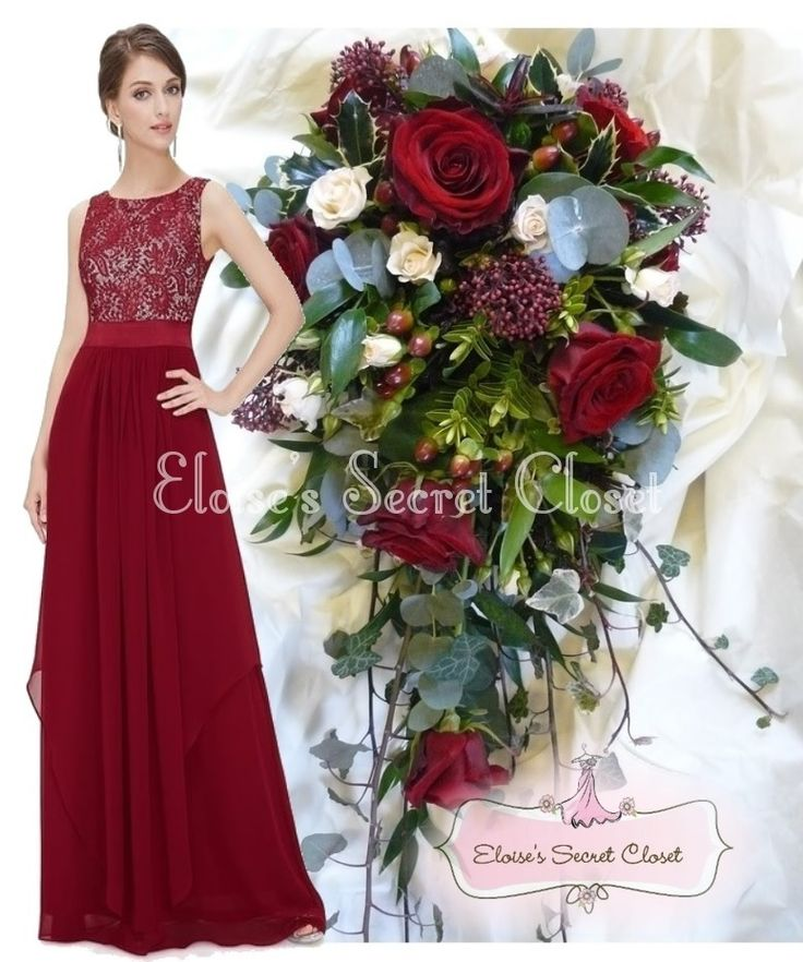 Lace dress red roses