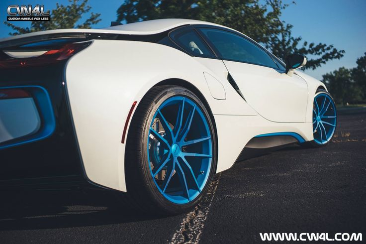 The team at Custom Wheels For Less LLC equipped this beautiful BMW i8 with this set of 21-inch Forgeline one piece forged monoblock AR1 wheels finished in Matte Transparent Blue! See more at: http://www.forgeline.com/customer_gallery_view.php?cvk=1433 #Forgeline #forged #monoblock #AR1 #notjustanotherprettywheel #madeinUSA #BMW #i8