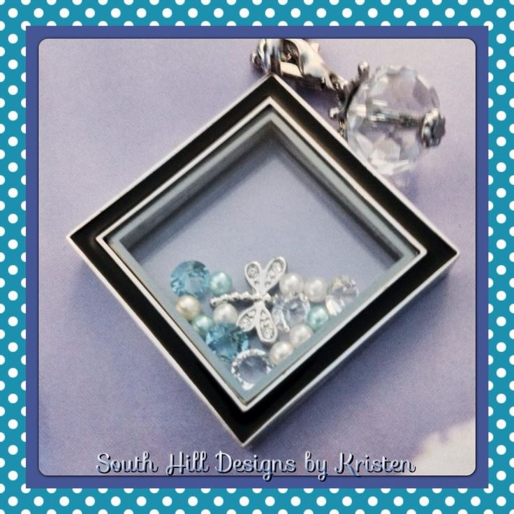 NEW Exclusive diamond-shaped locket only from South Hill Designs! #diamondlocket #southhilldesigns