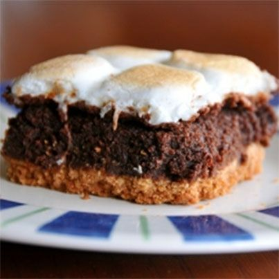 mores Brownie Bars | Noms | Pinterest